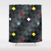 persian Shower Curtains featuring Persian mosaic by Vannina