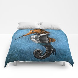 Sophisticated Seahorse Comforters