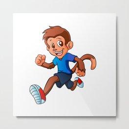 Running monkey . Metal Print