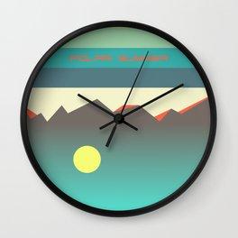 Polar summer - upside down world Wall Clock