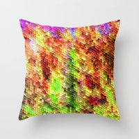 thanksgiving Throw Pillows featuring Thanksgiving by Megan Spencer
