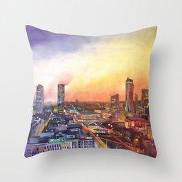Sunset in Warsaw Throw Pillow