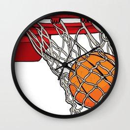ball basket Wall Clock