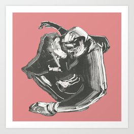 Lovers Quarrel Art Print