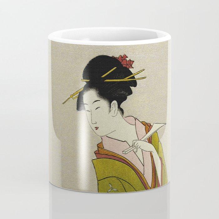 Itsutomi - Vintage Japanese Woodblock Coffee Mug