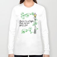 narnia Long Sleeve T-shirts featuring There is a Light that Never Goes Out by Hugh & West
