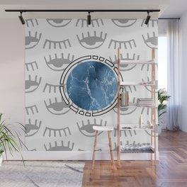 eye see ocean sky Wall Mural