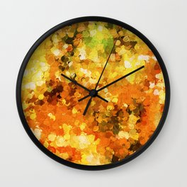 Colors of Autumn Abstract Wall Clock