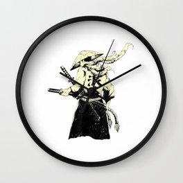 Japanische Samurai Krieger Retro Japan Bushido T-Shirt Wall Clock
