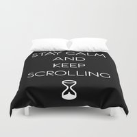 keep calm Duvet Covers featuring Keep calm by PassingEcho