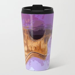 Purple Acoustic Guitar Travel Mug