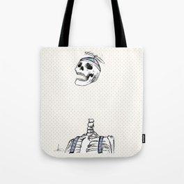 "Spooky Scary Skeleton 11""x17"" Tote Bag"
