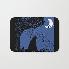 A Halloween night under the moon  Bath Mat