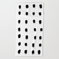 Jacques Pattern - Pure White Beach Towel