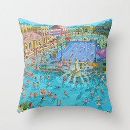 Szechenyi bath Budpest Throw Pillow