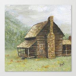 Log Cabin in Smokies Canvas Print