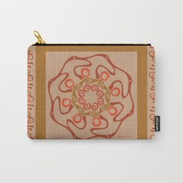 Hope Mandala with Border - Brown Tan Carry-All Pouch
