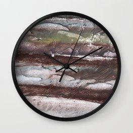 Gray brown marble Wall Clock