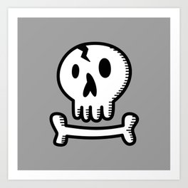 Skull 'N Bones Art Print