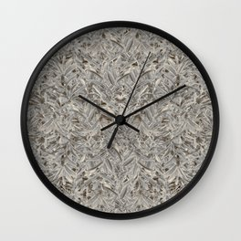 Silver Tropical Print Wall Clock