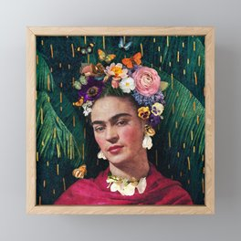 Frida Kahlo :: World Women's Day Framed Mini Art Print
