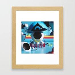CYANOBURST Framed Art Print