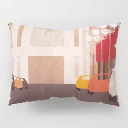 New York Manhattan watercolor Pillow Sham