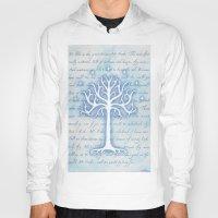 gondor Hoodies featuring Tree of Gondor by JadeJonesArt