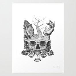 Faith in Death Art Print