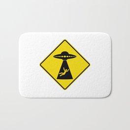 Alien Abduction Safety Warning Sign Bath Mat