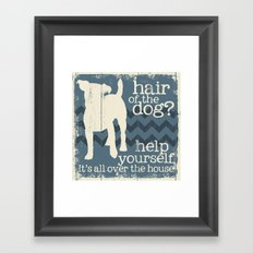Hair of the Dog Framed Art Print