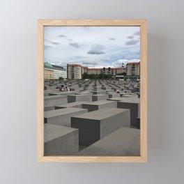 Berlin Jewish Memorial - Color  Framed Mini Art Print