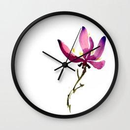 Single Orchid Wall Clock
