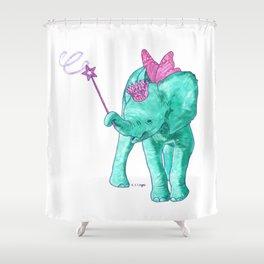 Fairy Elephant Shower Curtain