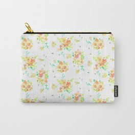 orange floral watercolor Carry-All Pouch
