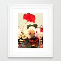 sandra dieckmann Framed Art Prints featuring Golly, Sandra by iolak