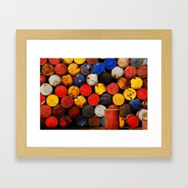 Gasoline Rusty Tin Cans Pattern Framed Art Print