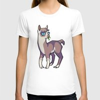 llama T-shirts featuring Llama by Suzanne Annaars