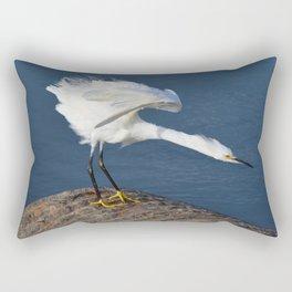 the egret dance Rectangular Pillow