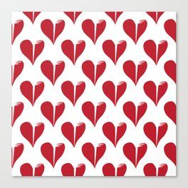 Seamless pattern with broken hearts Canvas Print