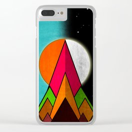 Mountain Day and Night Clear iPhone Case