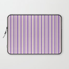Amethyst and Antique White Stripes Laptop Sleeve