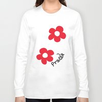 wallet Long Sleeve T-shirts featuring Inspired PRADA wallet *White and Red Flower* by art_146