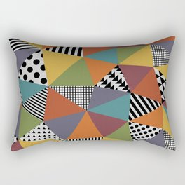 Colorful Geometry Rectangular Pillow