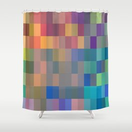 Imperfect Rectangles Shower Curtain