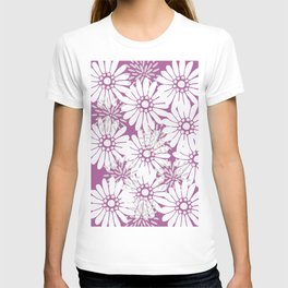 Summer Flowers Purple T-shirt