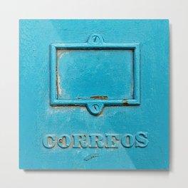 Old Havana Mailbox Metal Print