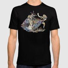 Dragon Fish (Color) Black MEDIUM Mens Fitted Tee