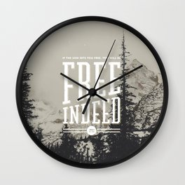 Free Indeed - Photo Wall Clock