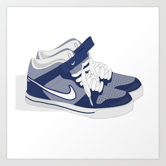 Nike Kicks - Old School Art Print